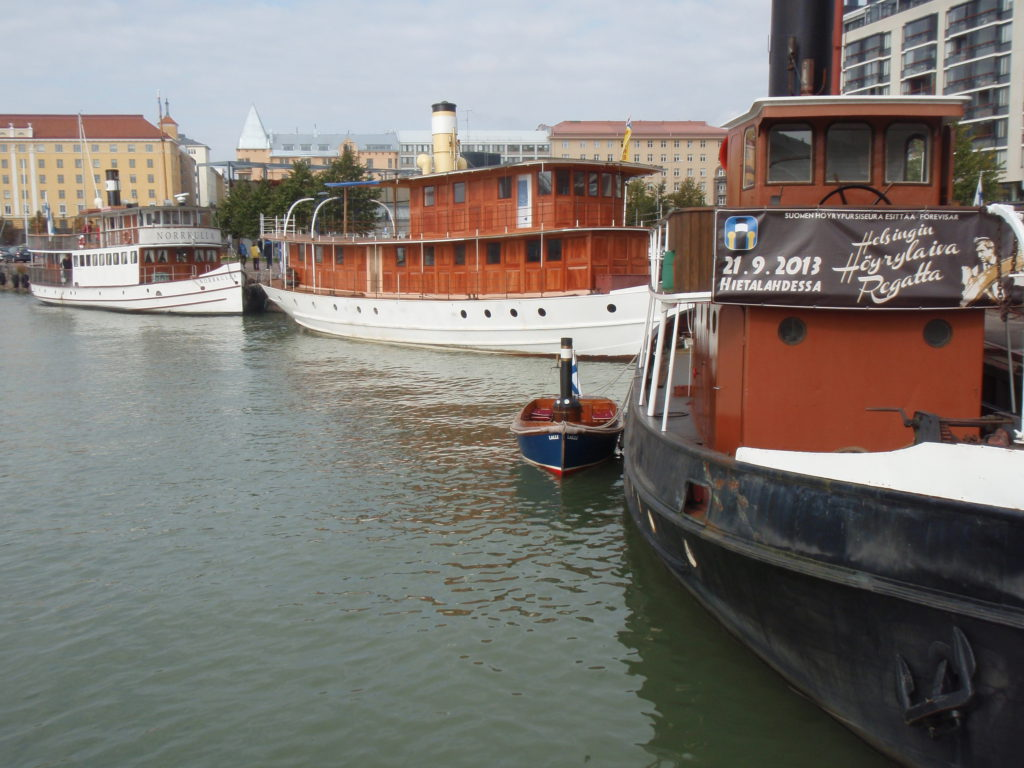 Suomen Höyrypursiseuran regatta Helsingissä 30.9.17